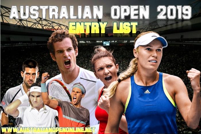 2019 Australian open Men and Women Entry List