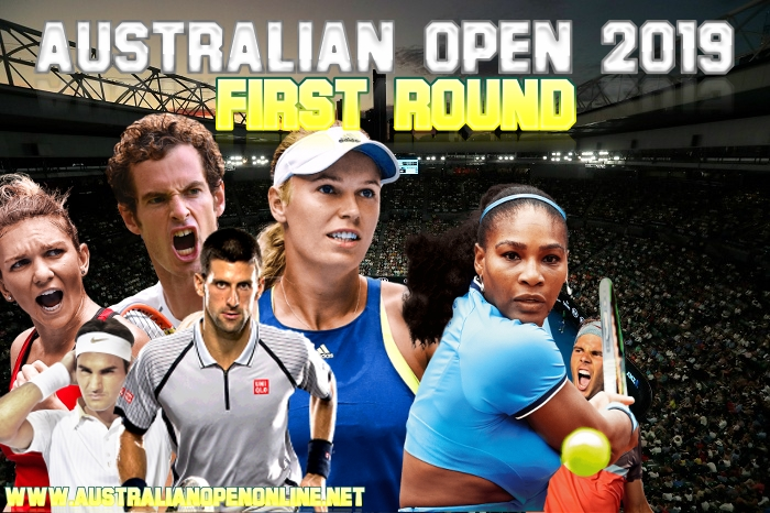 Australian Open First Round On 14-15 January 2019