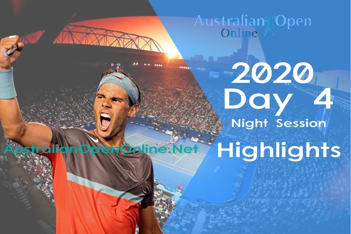 Australian Open Day 4 2020 Highlights Night Session