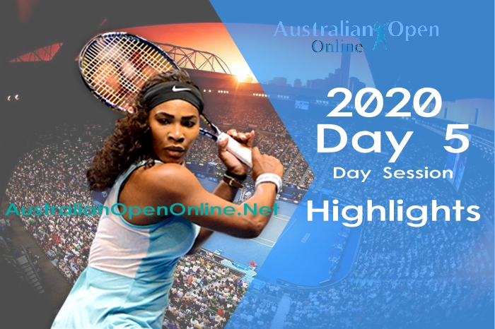 Australian Open Day 5 2020 Highlights Day Session