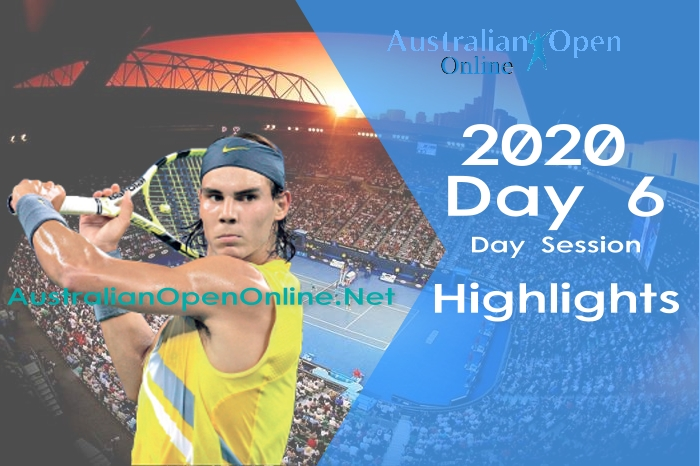 Australian Open Day 6 2020 Highlights Day Session