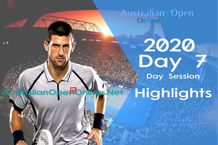 Australian Open Day 7 2020 Highlights Day Session