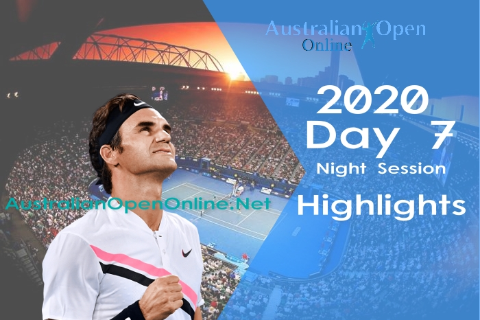 Australian Open Day 7 2020 Highlights Night Session
