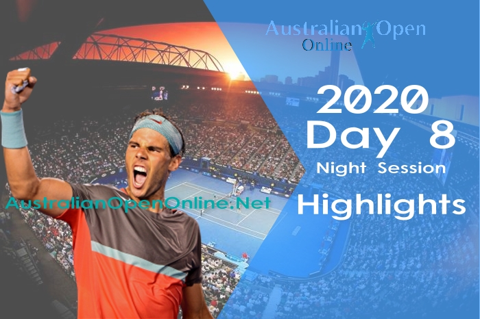 Australian Open Day 8 2020 Highlights Night Session