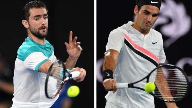 Marin Cilic vs Roger Federer AUS Open 2018 Highlights