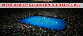 2018 Australian Open Entry List