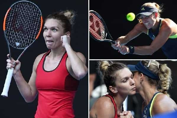Angelique Kerber vs Simona Halep Semifinal Highlights